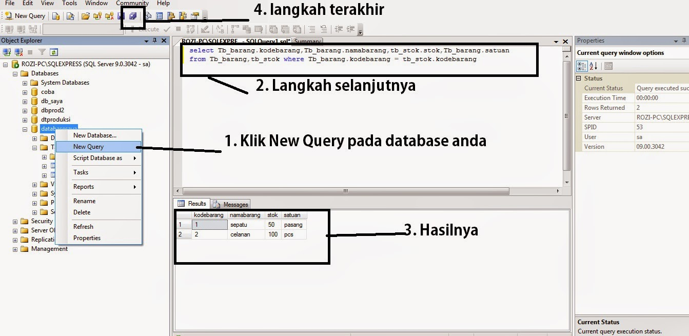 Cara JOIN TABLE SQL Server