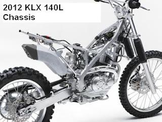 2012 Kawasaki KLX 140L chassis