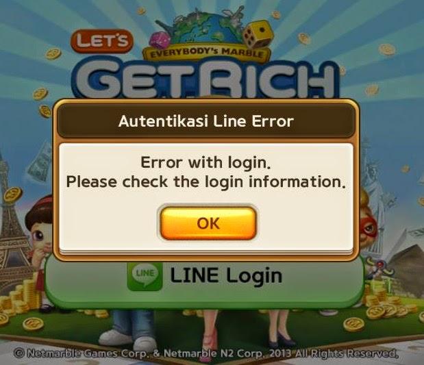 Cara Mengatasi Autentikasi Line Error Let's Get Rich LINE