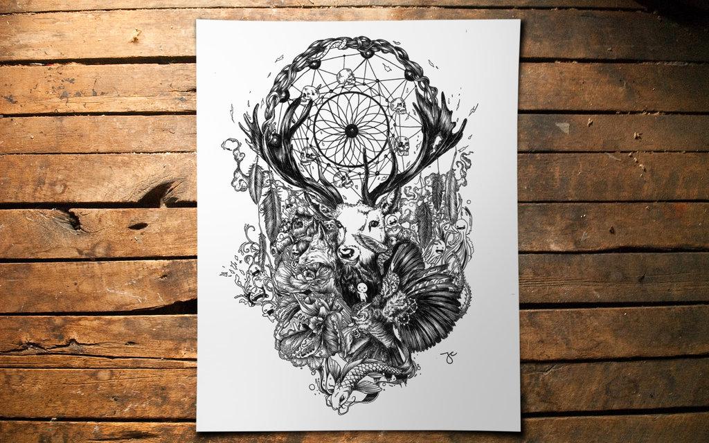 16-Nature-Dream-Joseph-Catimbang-Pentasticarts-Metaphysical-and-Surreal-Doodle-Drawings-www-designstack-co