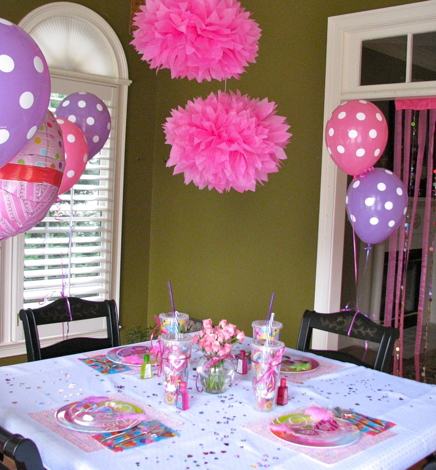Homemadeville your place for homemade inspiration girl 39 s for 13th birthday party decoration ideas