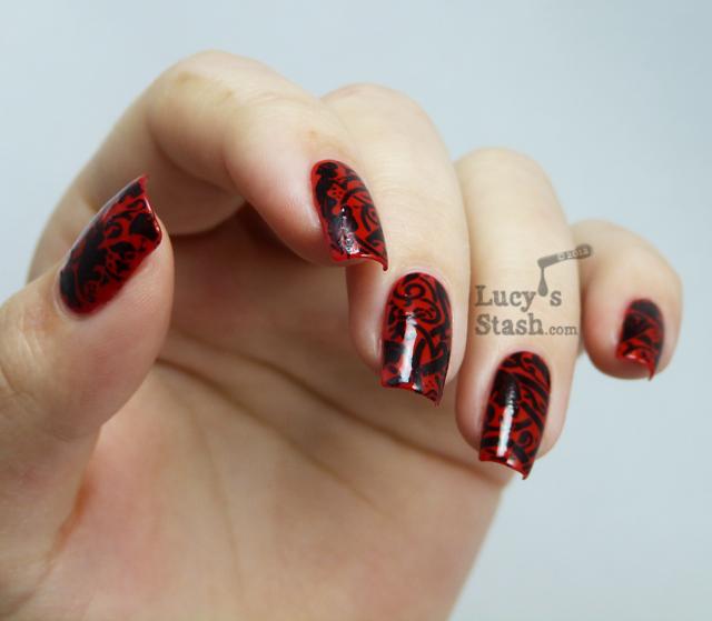 Lucy's Stash - Lace Nail Foils manicure