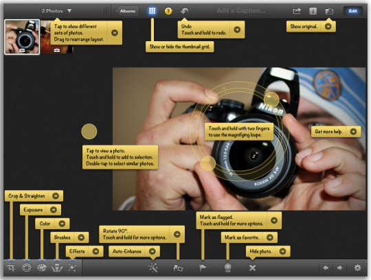 how to add color to a photo in iphoto