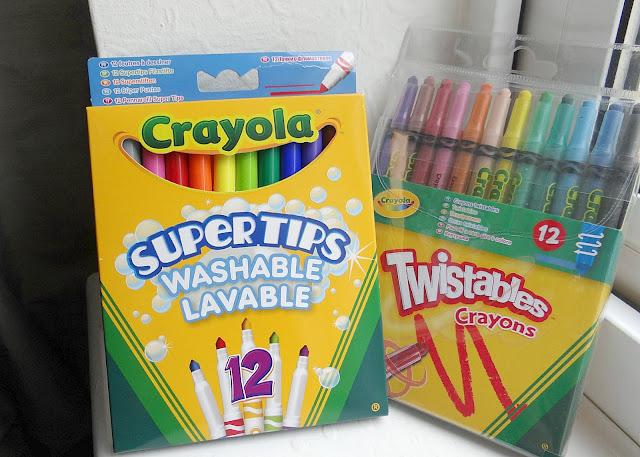 Back to School 2013, Crayola washable supertips, Crayola Twistable crayons