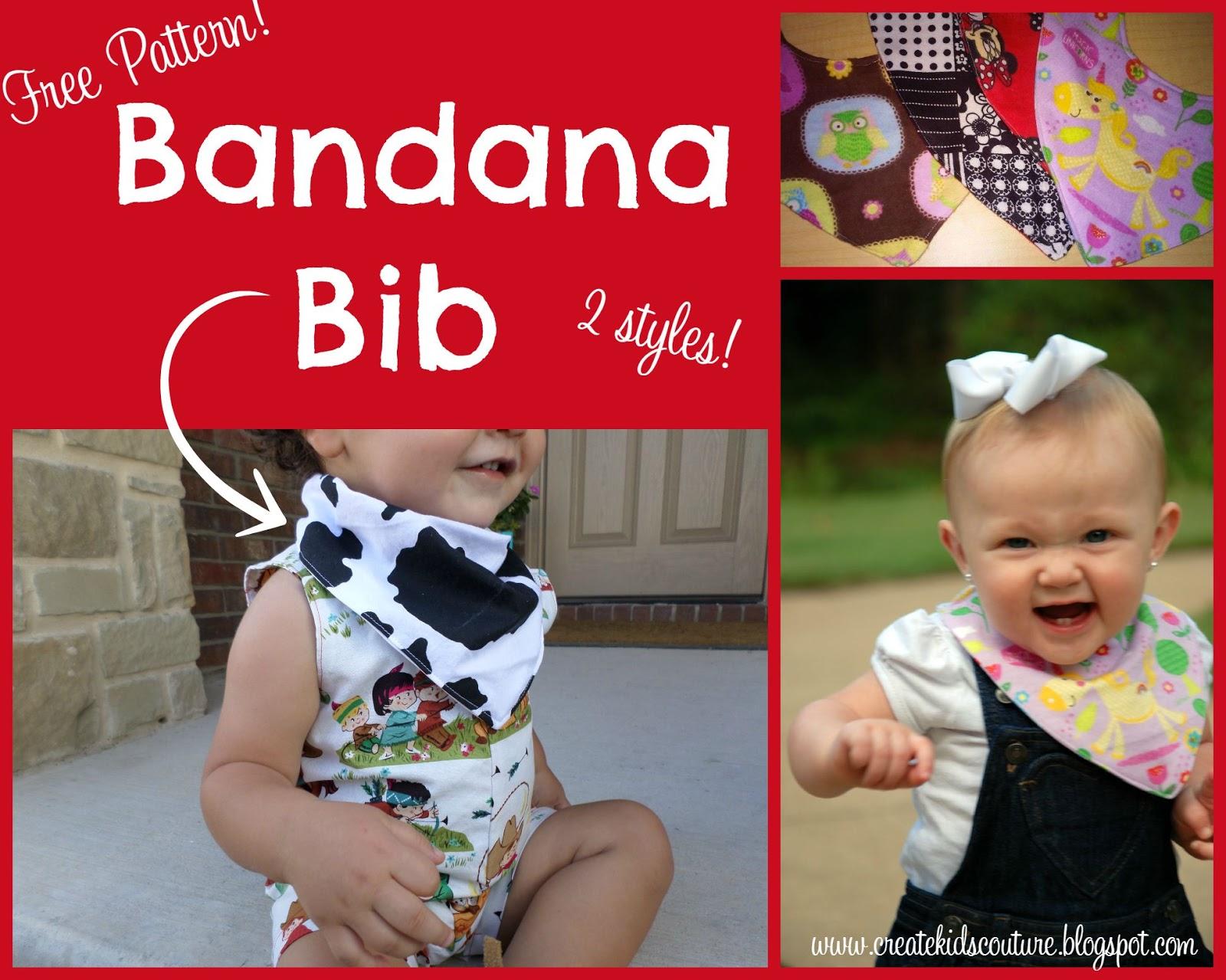 create kids couture bandana bib