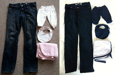 Dylon jeans blue before and after