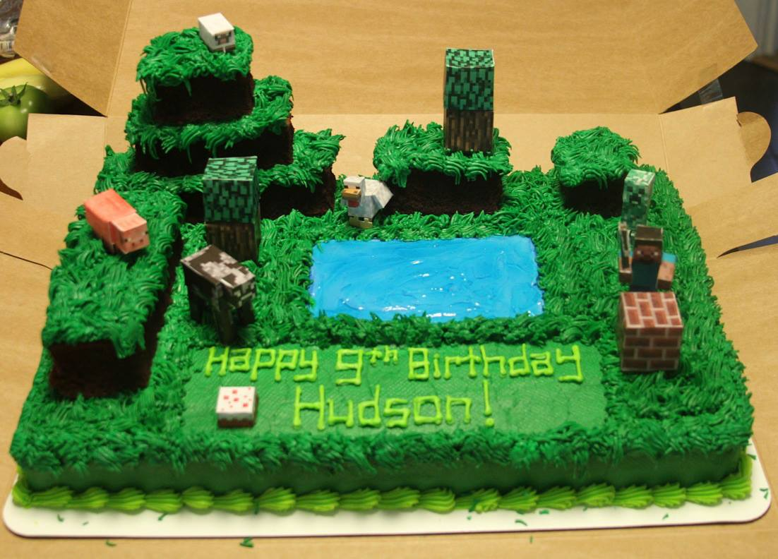 Cake Ideas Minecraft : DIY Birthday Themes - Small Town Fashionista