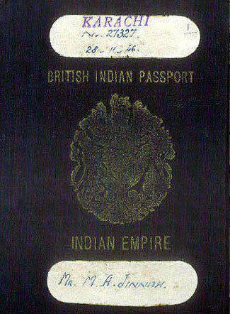 Quaid-e-Azam's Passport Cover