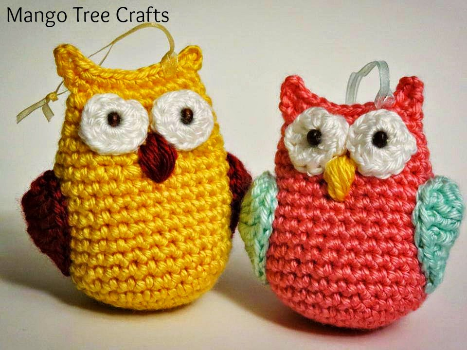 Free Crochet Pattern Owl Family : Mango Tree Crafts: Crochet Owls
