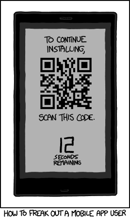 qr code mobile app user
