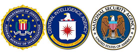 FBI CIA NSA logos