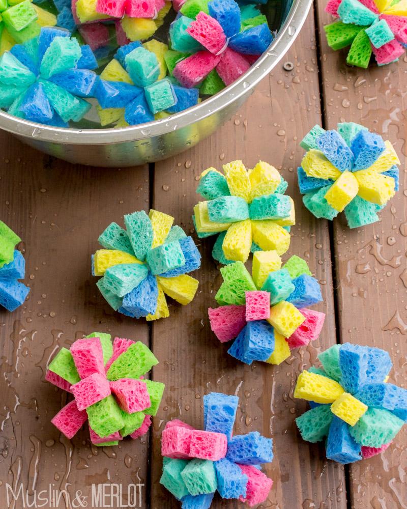 Diy Craft Ideas For Toddlers: DIY Sponge Water Bombs!