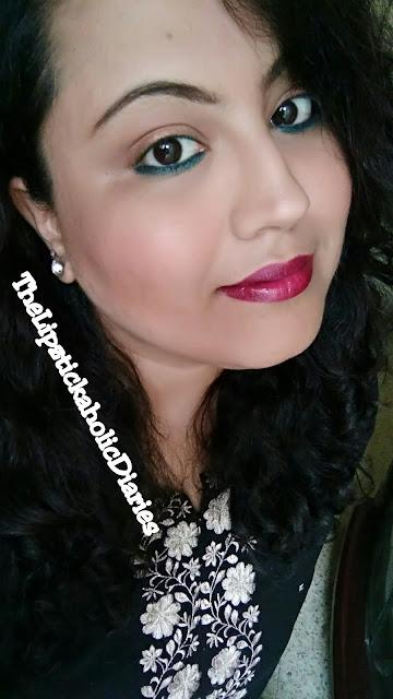Berries & Blue Makeup Look image