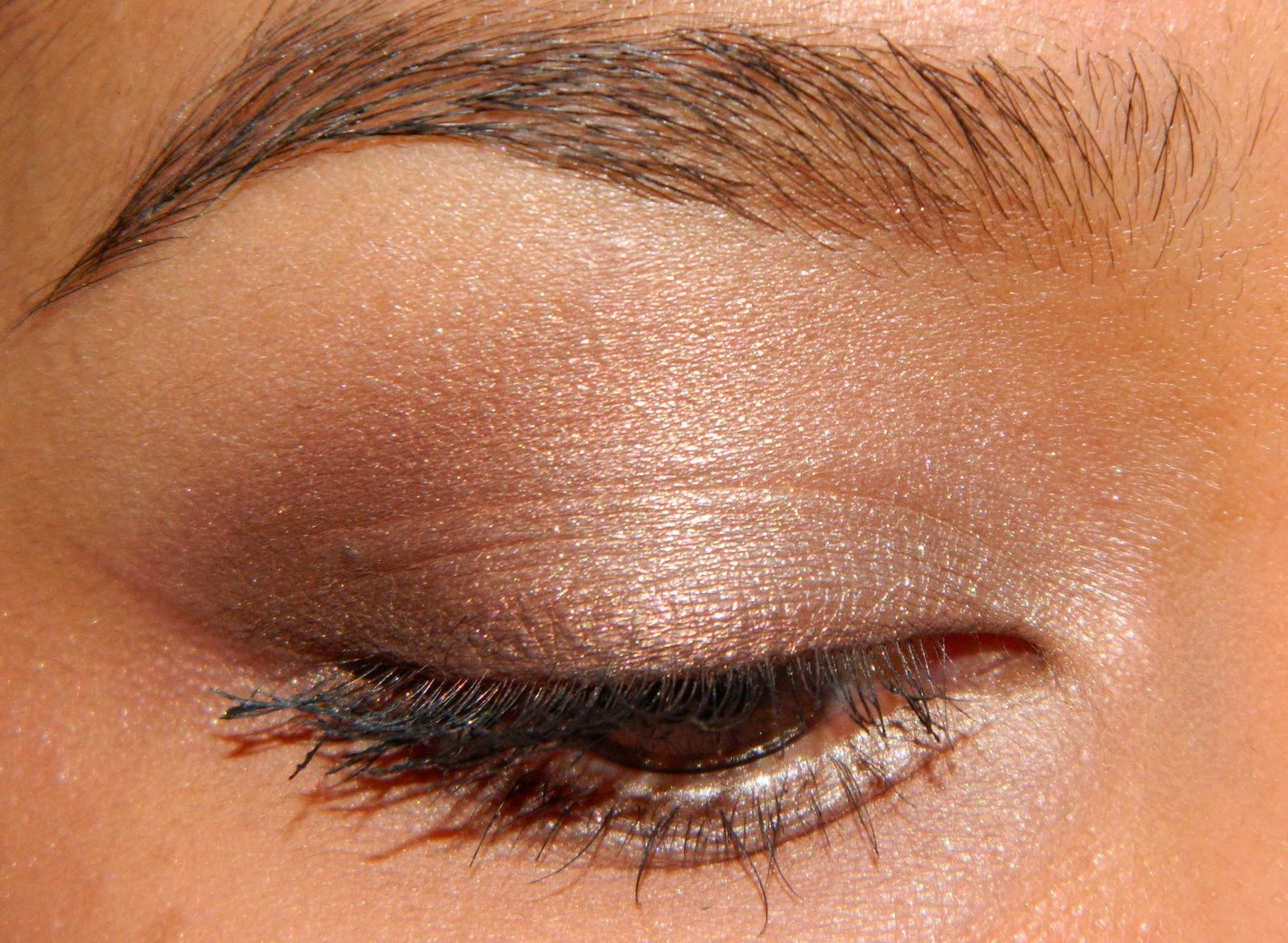 blush tree bobbi brown metallic eye shadow in gold dust