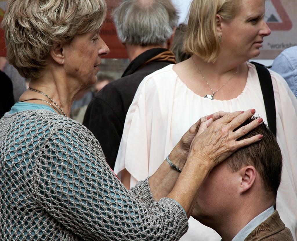 woman healing man