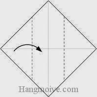 Bước 2: Gấp góc trái tờ giấy vào trong.
