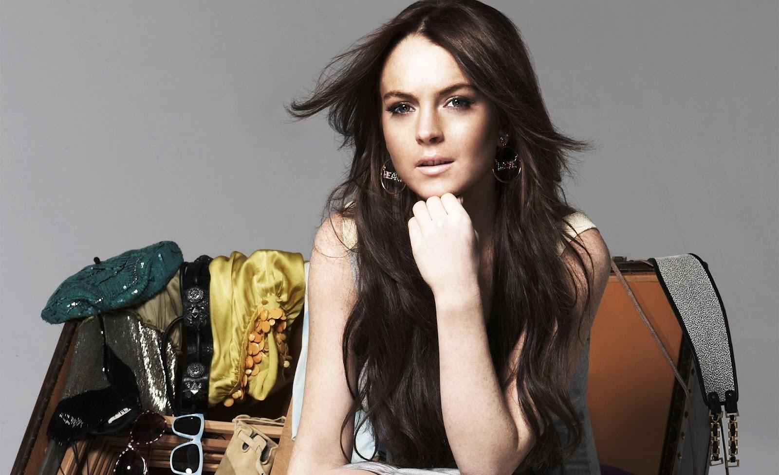 Lindsay Lohan with her boyfriend
