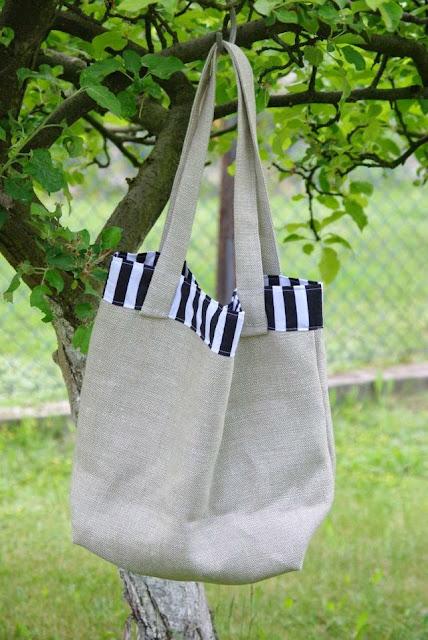 torba na zakupy, ekologiczna torba, torba z lnu, torba hand made
