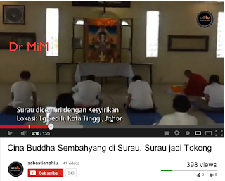 Mufti Johor: Upacara Buddha Dalam Surau Hina Islam