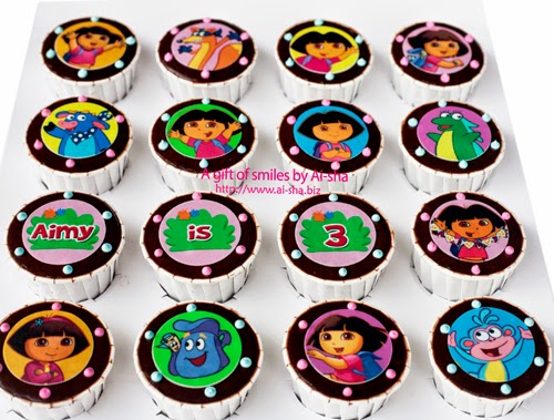 Birthday Cupcake Edible Image Dora The Explorer