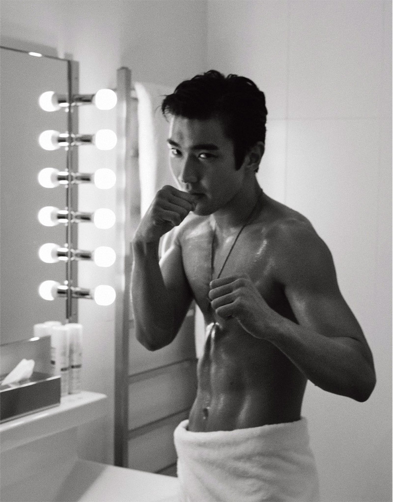 actor singer model choi si won photographed by karl lagerfeld for vman