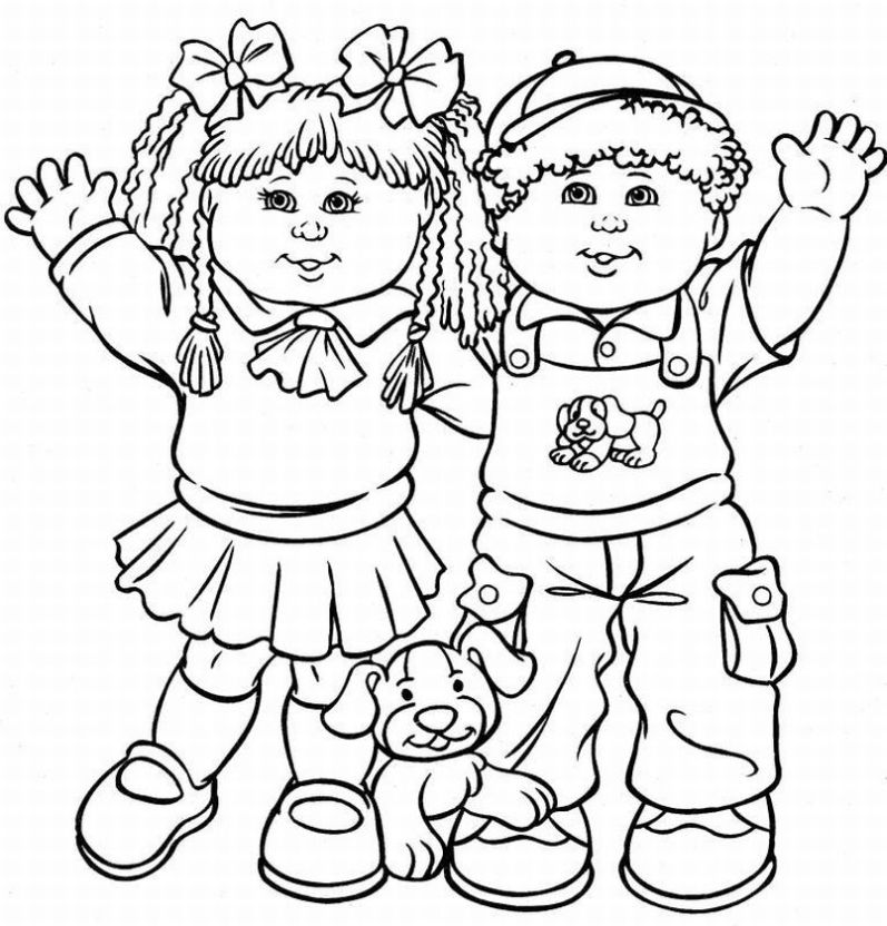 Cabbage Patch Kids Coloring Pages Learn To Coloring Kid Coloring Page