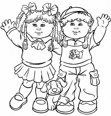 Cabbage Patch Kids Coloring Pages | Fantasy Coloring Pages