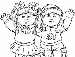 Cabbage Patch Doll Coloring Pages