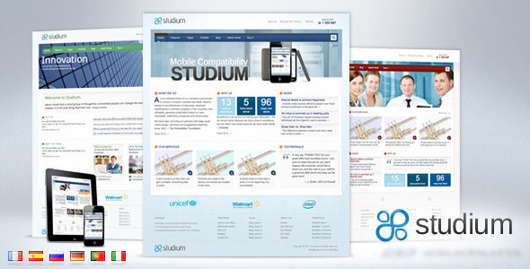 Studium for Business Corporate Portfolio Wordpress Theme Free Download by ThemeForest.