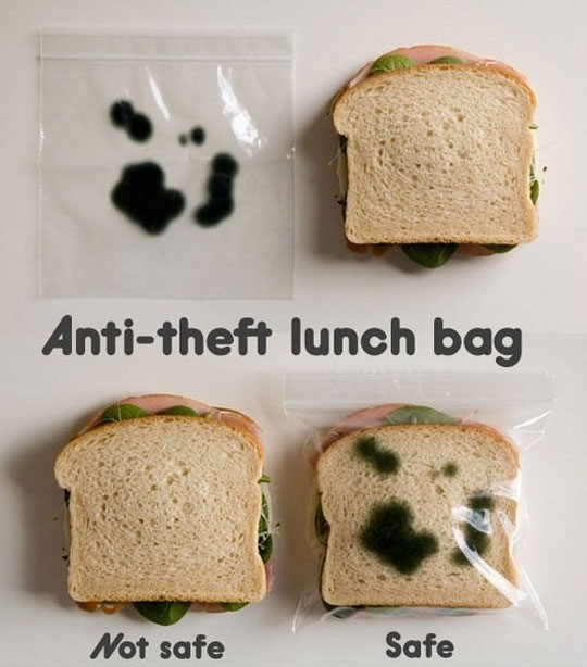 prison officer uses anti theft lunch bag