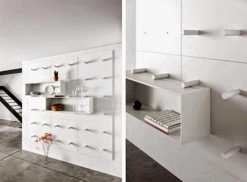wall mounted modular storage system by: Aris