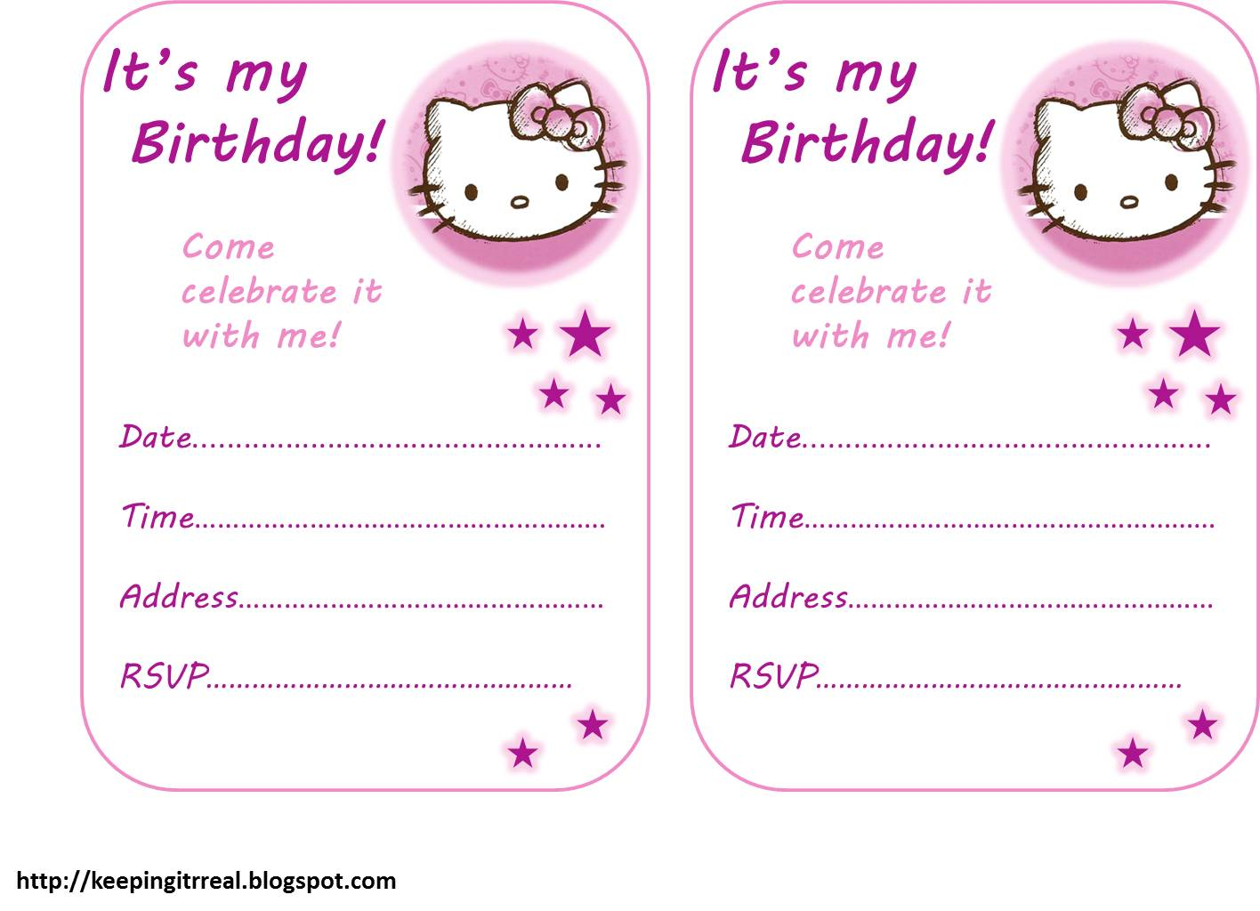 Hello kitty party pack free printables keeping it real maxwellsz