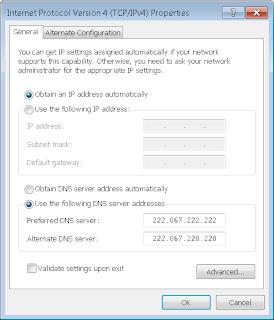 use prefered dns in internet protocol