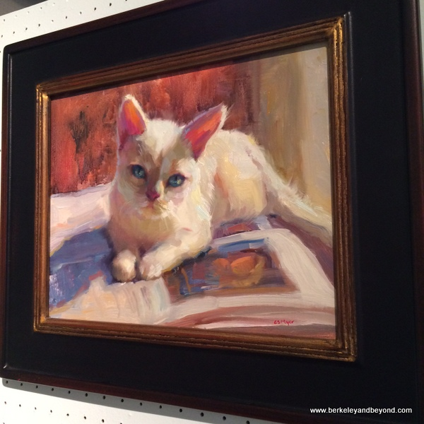 """Zoey by Carol Smith Myer at Marin Society of Artists Gallery at Marin Art and Garden Center in Ross, California"
