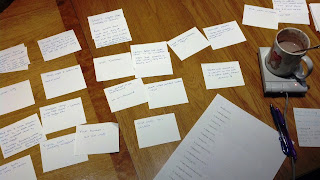 editing note cards