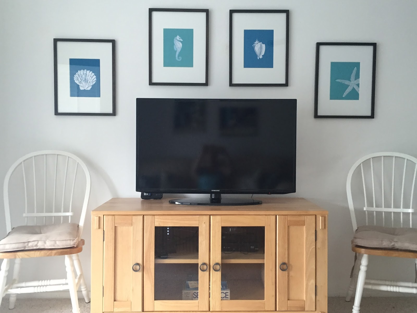 HOUSEography Our Florida Beach Condo TV Stand Picture Wall