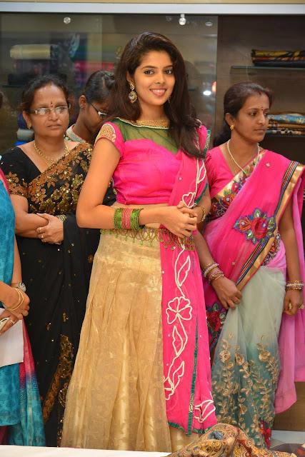 Shravya Sri Avatni Silks Inauguration Photos