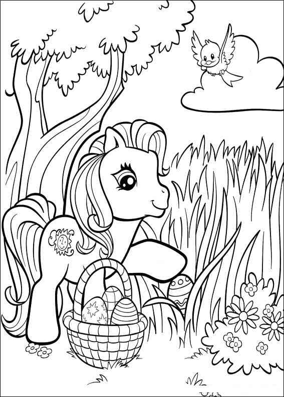 free my little pony coloring pages - My Little Pony Giant Coloring and Activity Book