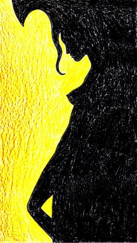 donna controluce dipinti pittura dipinto orme magiche quadro disegno pittura spirituale arte zen