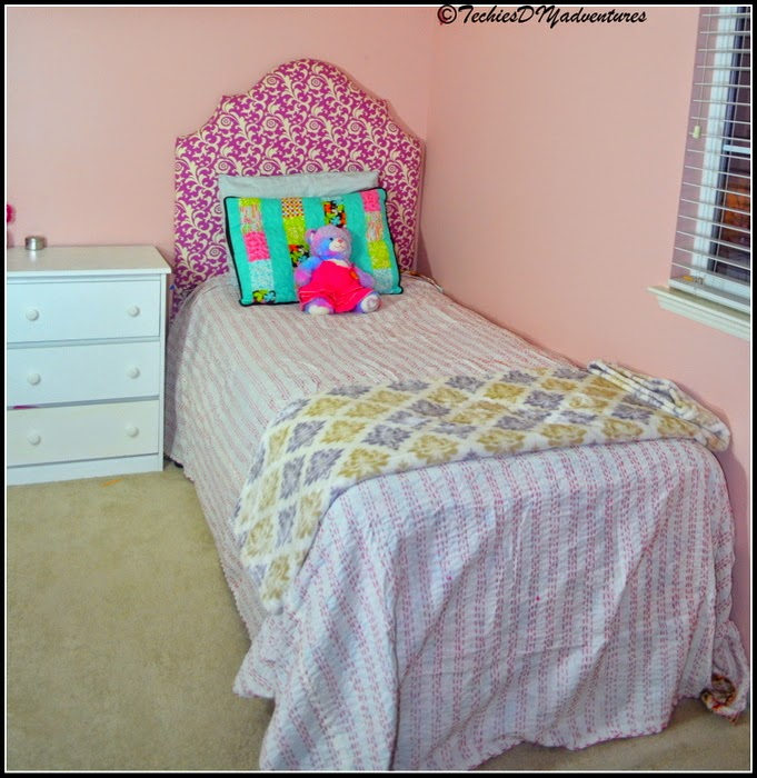 DIY Girls Twin Headboard