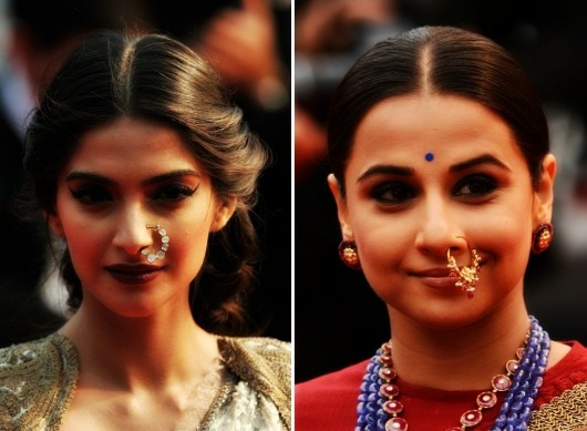Anillo de la nariz o estilo indio Nath