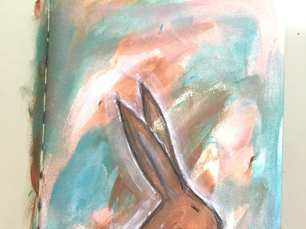 Hare - Intuitive Painting - Mixed Media Place