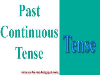 Pengertian Past Continuous Tense