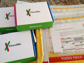 Olive Tree Genealogy Blog: 23andMe DNA Test Kits Arrive