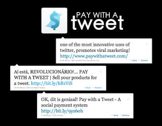 pagar con un tweet, una acción de arranque muy efectiva.