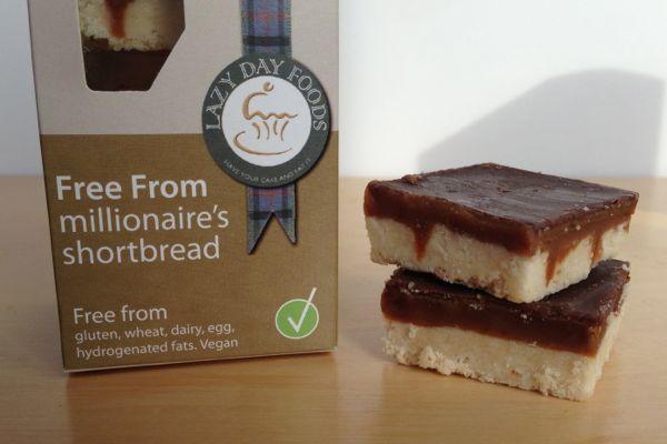 Lazy Days Free-From Tray-Bakes vegan millionaires shortbread caramel