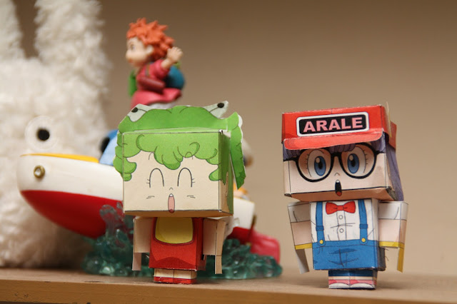 paper toys arale gatchan