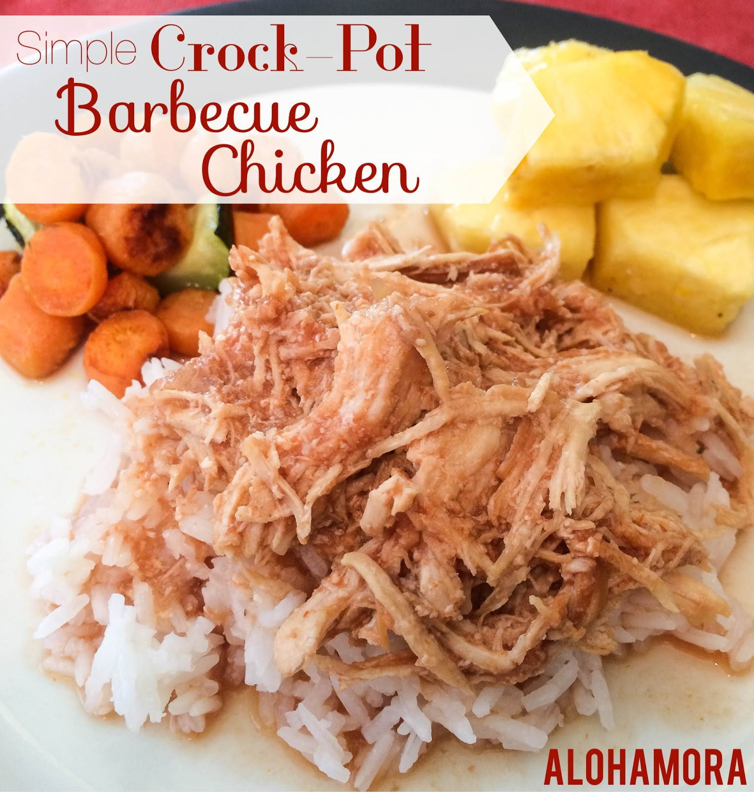 Super simple and easy crock-pot Barbecue Chicken. Serve over rice or on a bun for a bbq sandwich.  Both delicious!  You can even use frozen chicken with them gluten free dairy free meal. Alohamora Open a Book http://alohamoraopenabook.blogspot.com/