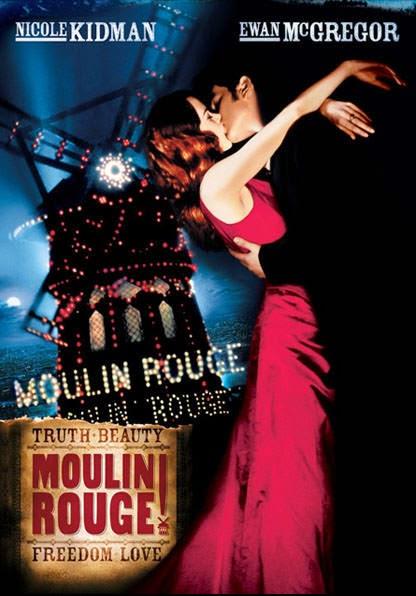 Portada película Moulin Rouge Nicole Kidman Ewan McGregor