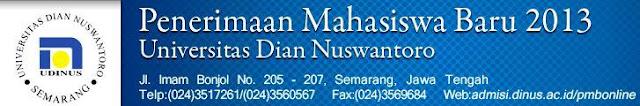 Penerimaan Mahasiswa Baru UDINUS Semarang